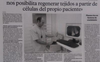 El plasma rico en factores de crecimiento nos posibilita regenerar tejidos a partir de células del propio paciente